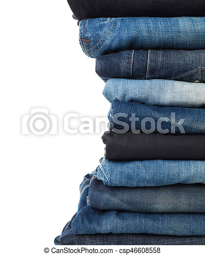 Stack of jeans - csp46608558
