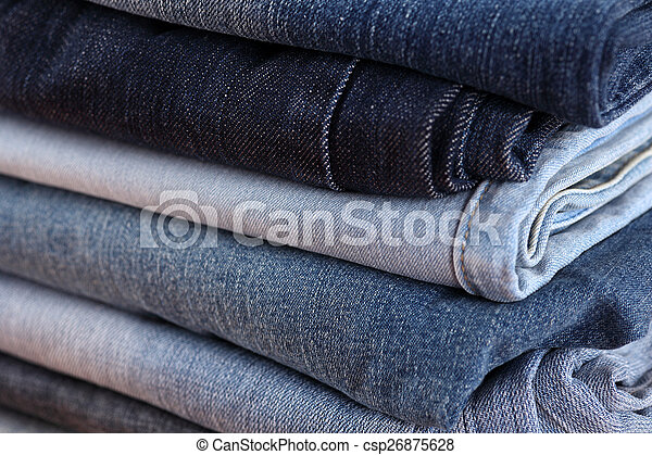 Stack of jeans - csp26875628