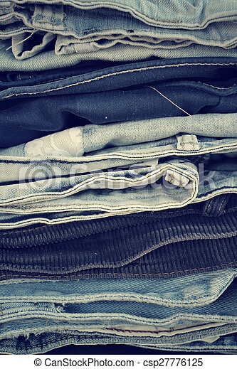 Stack of jeans - csp27776125