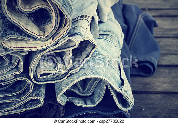 Stack of jeans - csp27785022