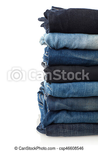 Stack of jeans - csp46608546