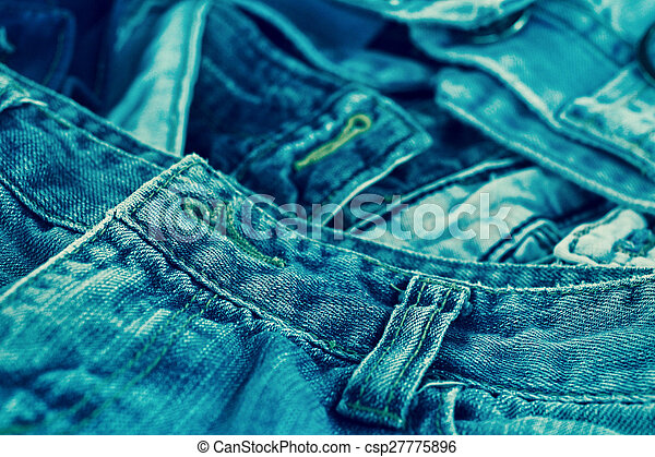 Stack of jeans - csp27775896
