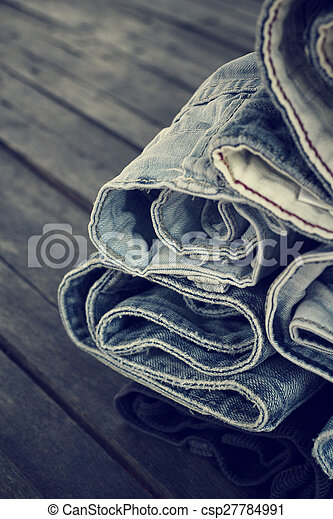Stack of jeans - csp27784991