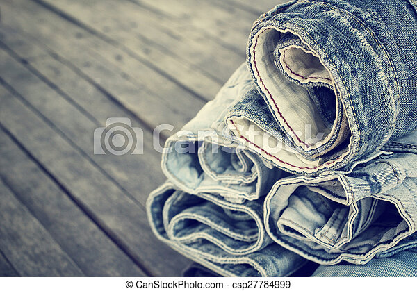 Stack of jeans - csp27784999