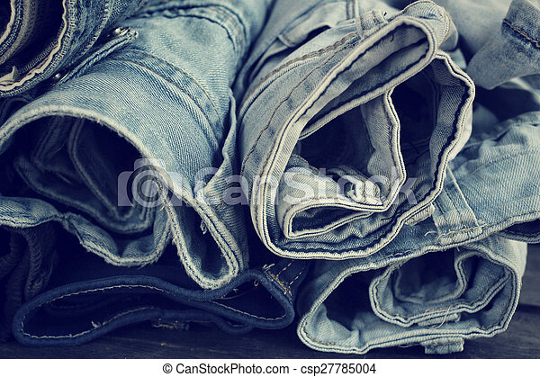 Stack of jeans - csp27785004