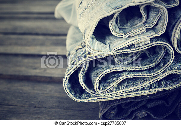 Stack of jeans - csp27785007
