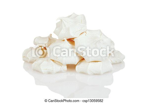 stack of meringue cookies - csp13059582