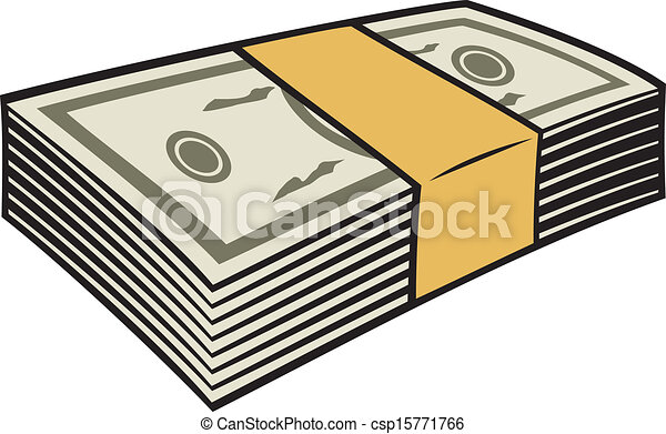clip art vector of stack of money csp15771766 - search drawings