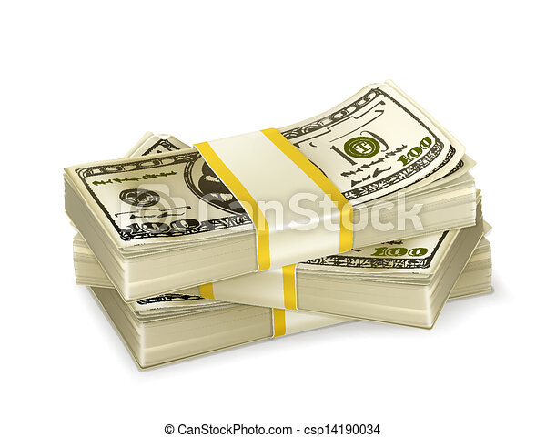 Stack of money - csp14190034