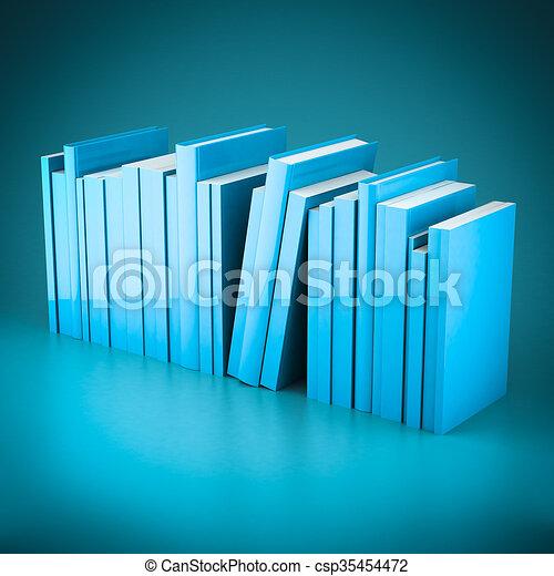 Stack of new books - csp35454472