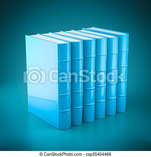 Stack of new books - csp35454466