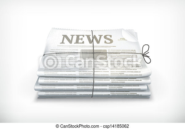 Stack of newspapers - csp14185062