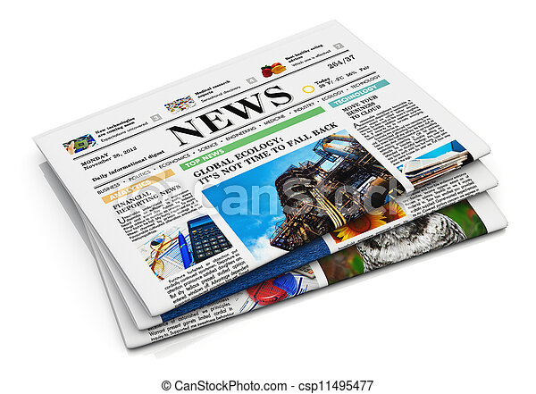 Stack of newspapers - csp11495477