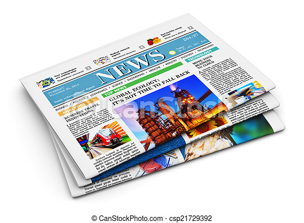 Stack of newspapers - csp21729392