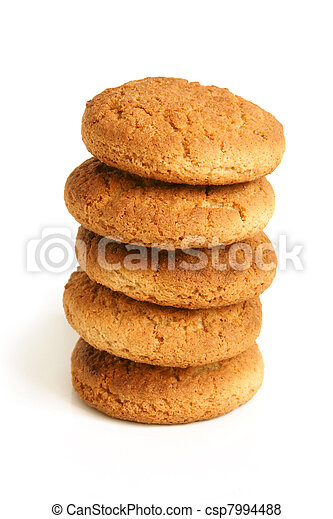Stack of oatmeal cookies - csp7994488