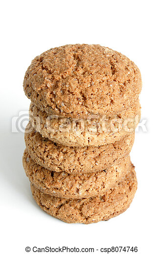 Stack of oatmeal cookies - csp8074746
