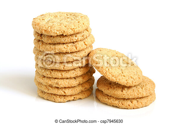 Stack of oatmeal cookies - csp7945630