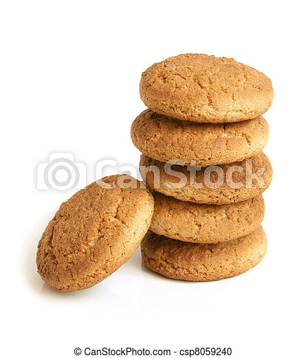 Stack of oatmeal cookies - csp8059240