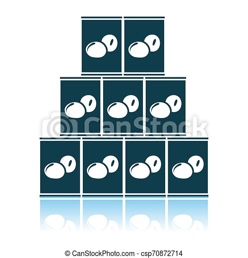 Stack Of Olive Cans Icon - csp70872714