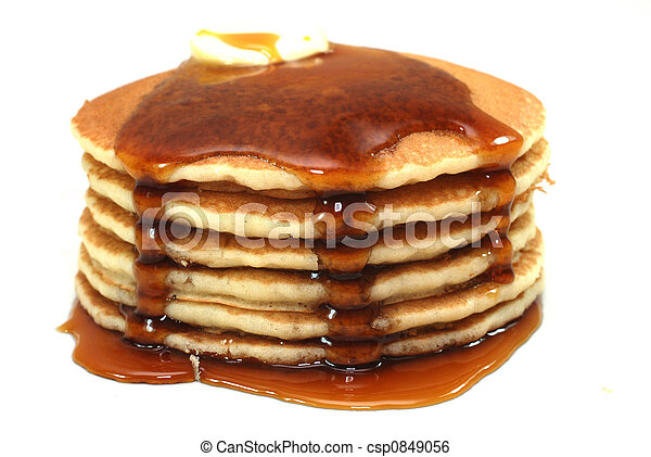 Stack of Pancakes and Syrup - csp0849056