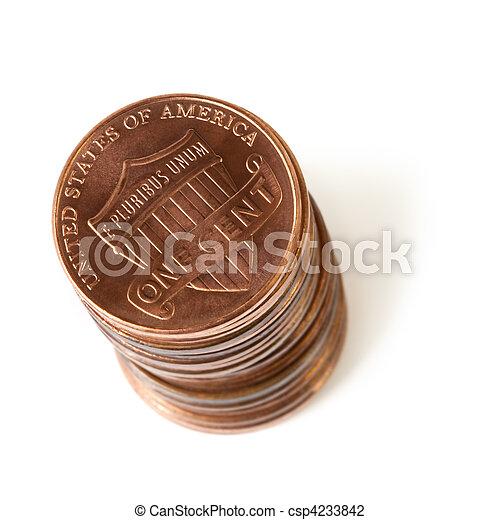 Stack of Pennies - csp4233842