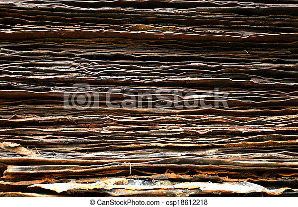 stack of rusty iron plate - csp18612218