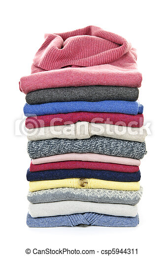 Stack of sweaters - csp5944311