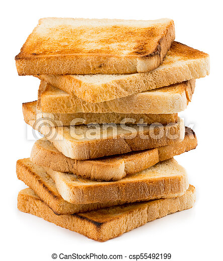 Stack Of Toast Bread Isolated On White Background