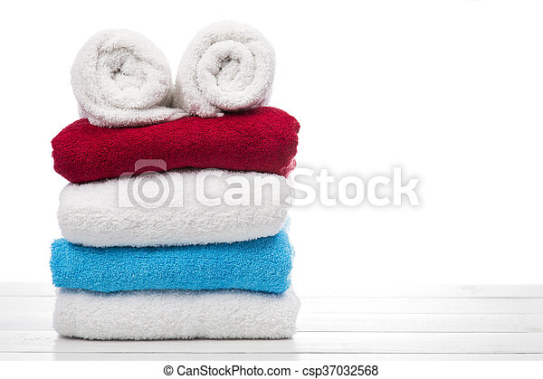 stack of towels - csp37032568