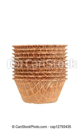 Stack of waffle bowls - csp12793435