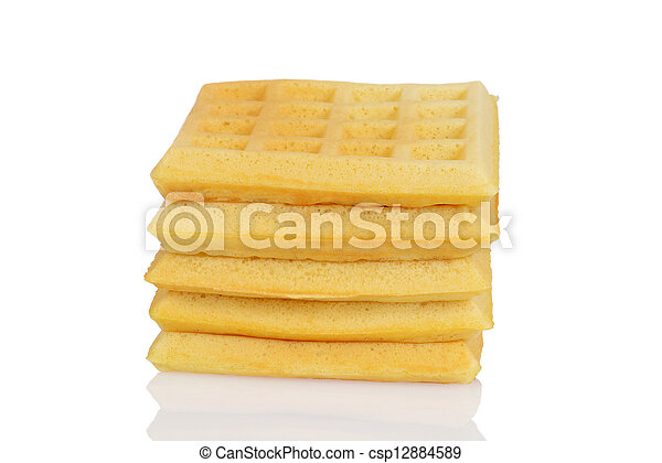 Stack of waffles - csp12884589