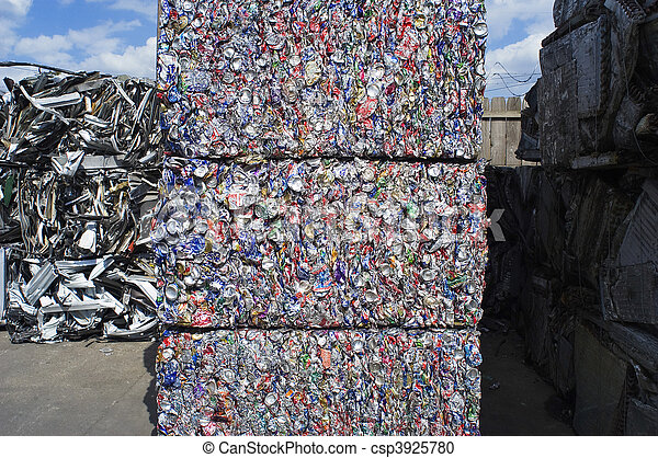 Stacked Aluminum Cans - csp3925780