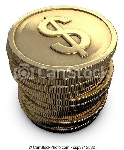 Stacked Coins - csp3712532