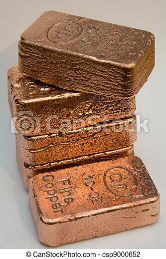 Stacked Copper Bullion Bars - csp9000652