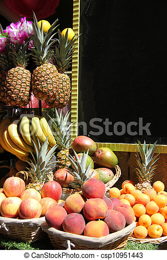 Stacked fruits - csp10951443
