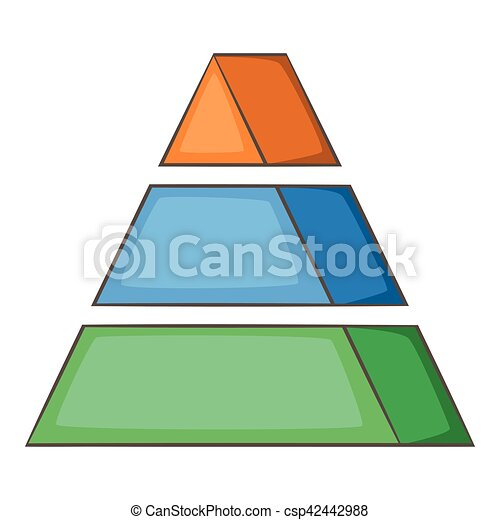 stacked pyramid icon cartoon style stacked pyramid icon vector rh canstockphoto com pyramid clipart for powerpoint food pyramid clipart