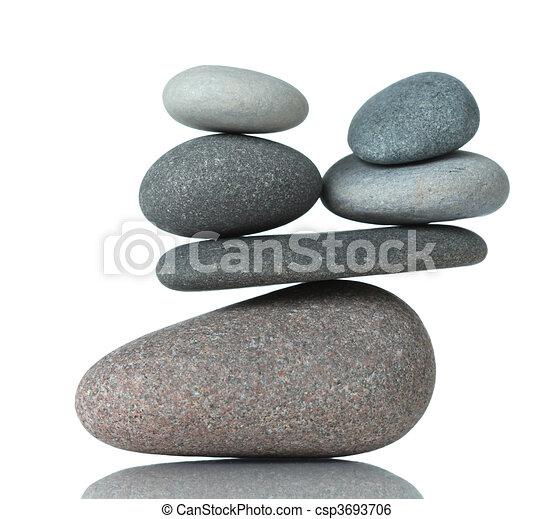 Stacked stones - csp3693706