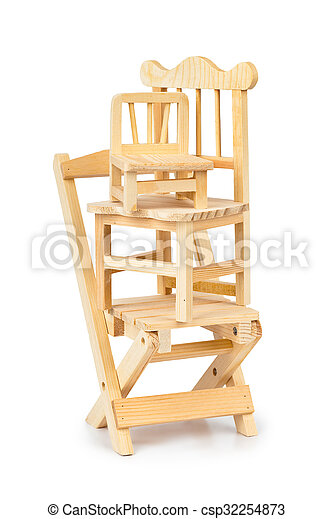 Stacked toy wooden chairs - csp32254873