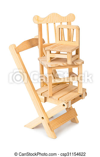Stacked toy wooden chairs - csp31154622