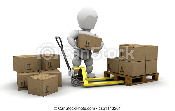 Stacking boxes - csp1143261
