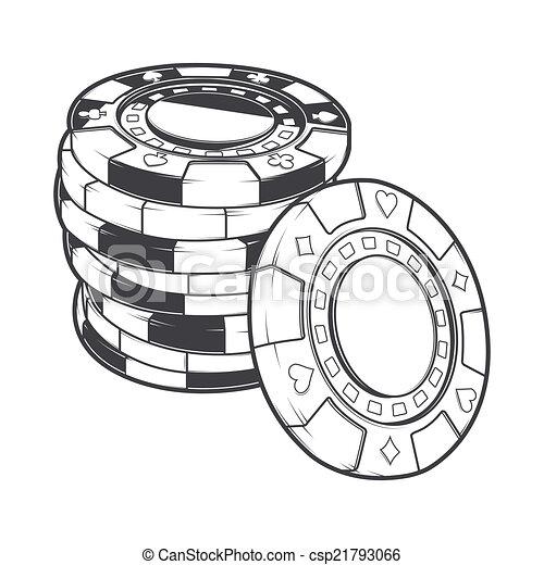 Stacks of gambling chips - csp21793066