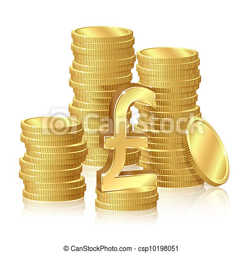 Stacks of gold coins - csp10198051