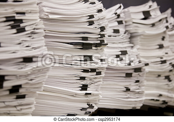 Stacks of Tax and Legal Papers - csp2953174