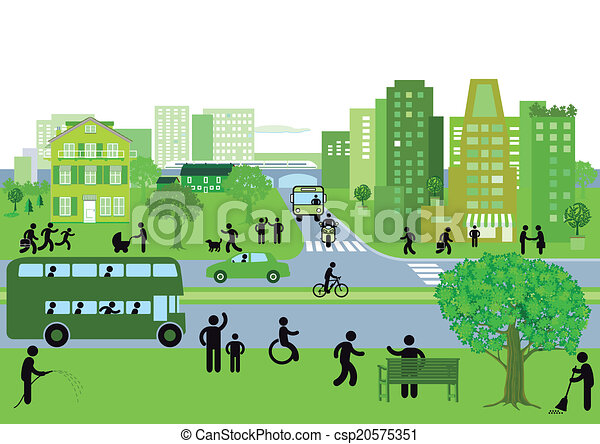 stad, grön - csp20575351