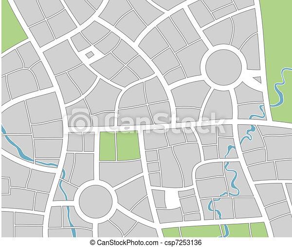 stad kartlagt - csp7253136