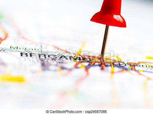 karta över bergamo italien Stad, närbild, italien, över, karta, bergamo, skott. Stad, begrepp  karta över bergamo italien