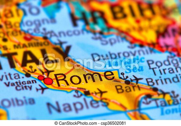 Stad Rom Huvudstad Italien Karta Stad Italien Karta Rom