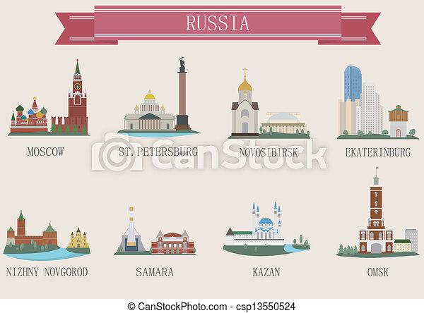 stad, symbool., rusland - csp13550524