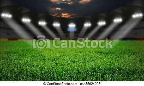 Stadium at night - csp55624205