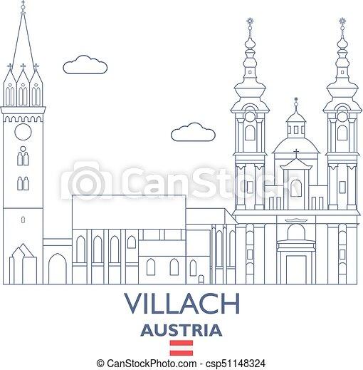 stadt 246sterreich skyline villach stadt 246sterreich
